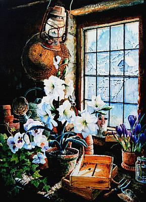 Potting Painting - Encouraging Springtime by Hanne Lore Koehler