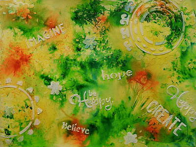 Mixed Media - Encouraging Words by Betty-Anne McDonald
