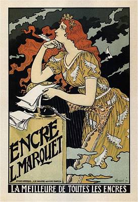 Mixed Media - Encre L Maeouet - La Meilleure De Toutes Les Encres - Vintage Advertising Poster by Studio Grafiikka