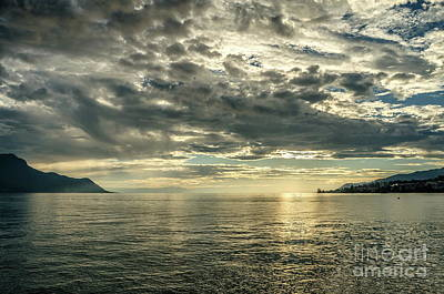 Photograph - end afternoon at Montreux by Michelle Meenawong