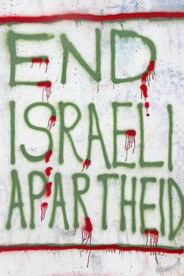 Separation Painting - End Israeli Apartheid by Munir Alawi