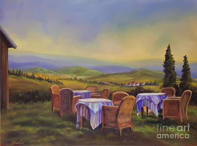 Landscapes Of Tuscany Painting - End Of A Tuscan Day by Charlotte Blanchard