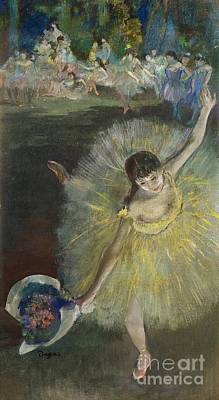 Oil Pastel Pastel - End Of An Arabesque by Edgar Degas