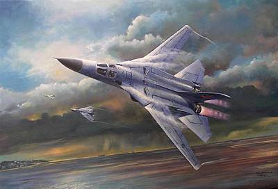 Painting - 'end Of An Era' F111 Qld Final Flight by Colin Parker