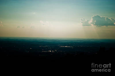 Green Abstract Photograph - End Of Day Abstract 3 by Pittsburgh Photo Company