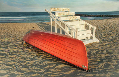 Photograph - End Of Day For Lifeguard Boat And Stand by Gary Slawsky