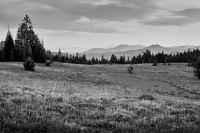 Mount Mazama Photograph - End Of Day In B W by Frank Wilson