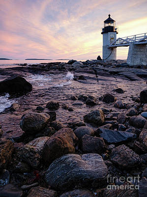 Photograph - End Of Day, Marshall Point Light, Port Clyde, Maine  -87432 by John Bald