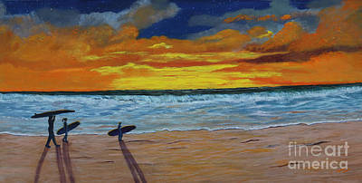 Painting - End Of Day by Myrna Walsh