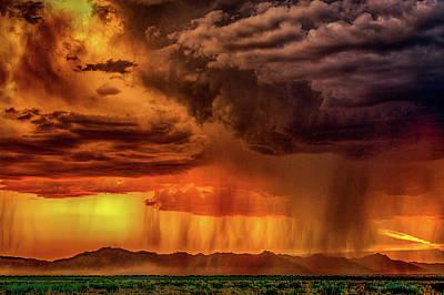 Lightnings Of Arizona Photograph - End Of Monsoon Season by Janet Ballard