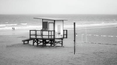 Photograph - End Of Season - Cocoa Beach - Florida - B/w by Greg Jackson
