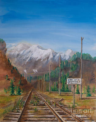 End Of Standard Gauge Print by Christopher