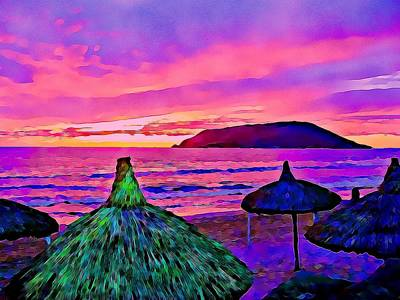 End Of The Beach Day In Mazatlan Art Print