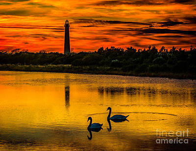 Photograph - End Of The Day At Cape May Light by Nick Zelinsky