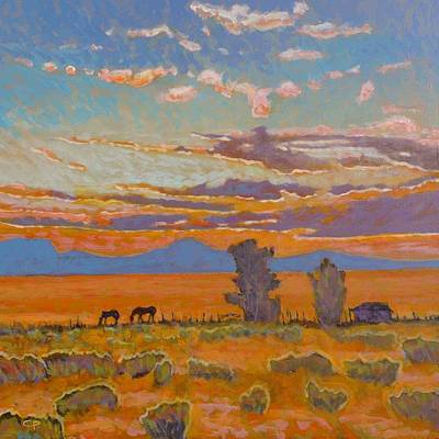 Maynard Dixon Painting - End Of The Day by Charlie Pickens
