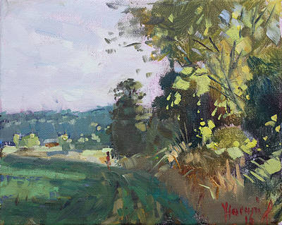 Georgetown Wall Art - Painting - End Of The Day In The Farm  by Ylli Haruni