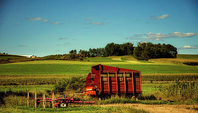 Hay Wagon Photograph - End Of The Day by Mountain Dreams