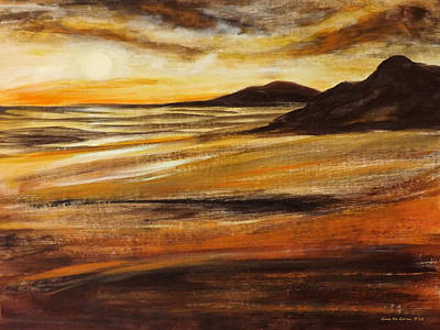 Painting - End Of The Day - Panoramic Sunset by Gina De Gorna