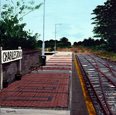End Of The Line, Charlestown Art Print by Tony Gunning