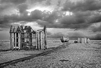 Photograph - End Of The Line In Black And White by Gill Billington