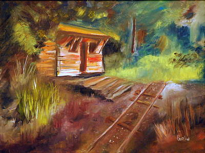 Painting - End Of The Line by Phil Burton