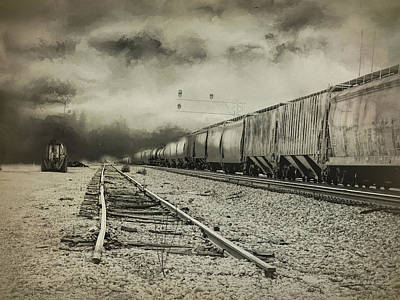 End Of The Line Art Print by Theresa Campbell