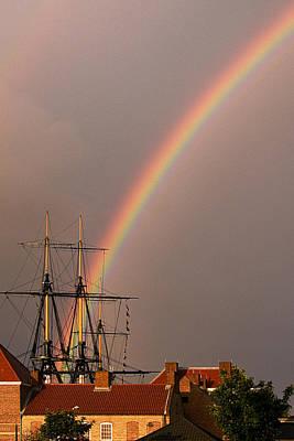 Bunting Digital Art - End Of The Rainbow by Barry Hayton