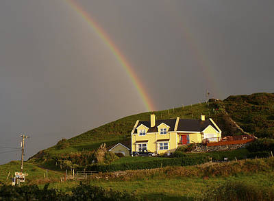 Double Rainbow Photograph - End Of The Rainbow by Mike McGlothlen