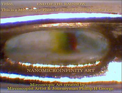 Art Print featuring the painting End Of The Rainbow With Large Watermarking by Phillip H George