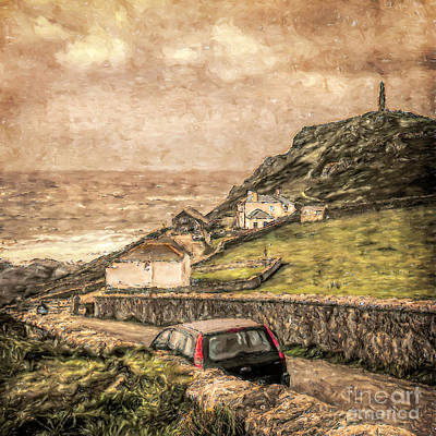 Mixed Media - End Of The Road Cape Cornwall by Linsey Williams