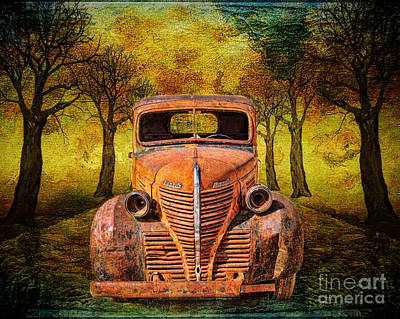 Old Junk Car Painting - End Of The Road For This Plymouth by Janice Rae Pariza