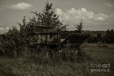 Photograph - End Of The Road For This Truck by Dale Powell