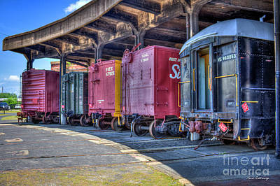 Photograph - End Of The Track Train Cars Central Of Georgia Rail Road Art by Reid Callaway
