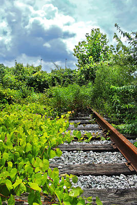 Photograph - End Of The Tracks by Stephen Dorsett