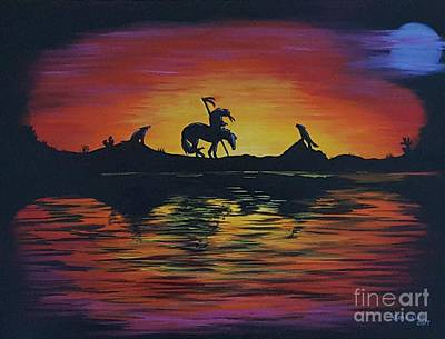 Painting - End Of The Trail by Sandra Lett