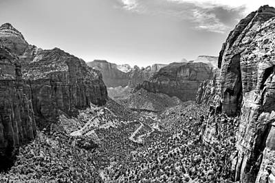 Photograph - End Of Trail View From Zion National Park by Robert Meyers-Lussier