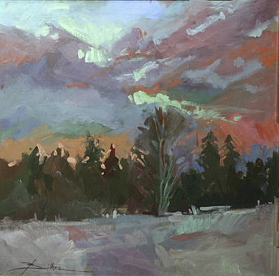 Painting - Winter's Last Flame by Betty Jean Billups