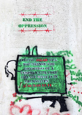 Photograph - End The Oppression by Munir Alawi