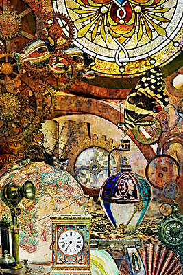 Steampunk Mixed Media - End Times by Ally White