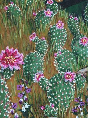 Painting - Endangered Bakersfield Cactus by Katherine Young-Beck