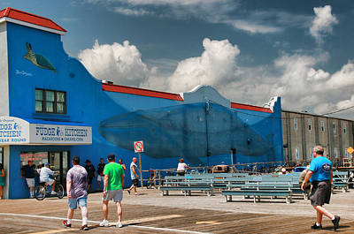 Photograph - Endangered Blue Whales Mural 2 by Allen Beatty