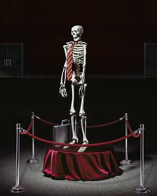 Human Skeleton Photograph - Endangered Man by Kelley King