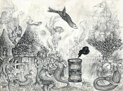 Drawing - Endangered Water Spirit 1 by Alma