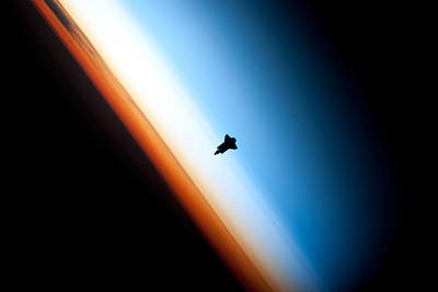 Enterprise Photograph - Endeavour Silhouette Sts-130 by Artistic Panda