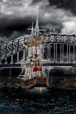 Photograph - Endeavour The Ghost Ship Of Sydney Harbour by Miroslava Jurcik