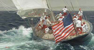 Endeavour's Flag Art Print by Julia O'Malley-Keyes