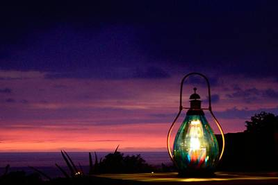 Hurricane Lamps Photograph - Ending Glow  by Kimberly Reeves