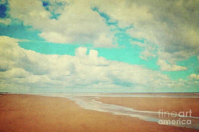 Beach Landscape Mixed Media - Endless Beach by Angela Doelling AD DESIGN Photo and PhotoArt
