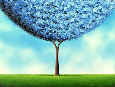 Endless Blue Art Print by Rachel Bingaman
