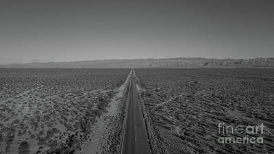 Photograph - Endless Road Aerial Bw by Michael Ver Sprill